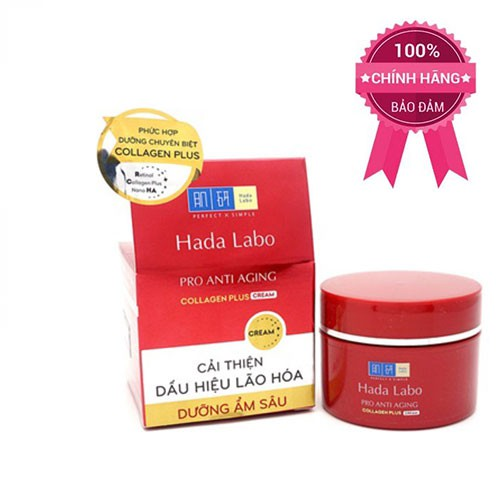 Kem dưỡng cải thiện lão hóa Hada Labo Pro Anti Aging Collagen Plus Cream 50g