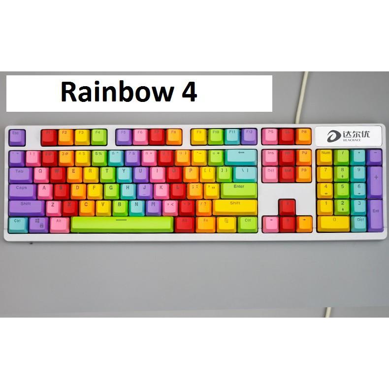 Set Keycap nút bàn phím cơ nhiều màu- nhựa PBT- xuyên led phù hợp các loại bàn phím xuyên led thông dụng