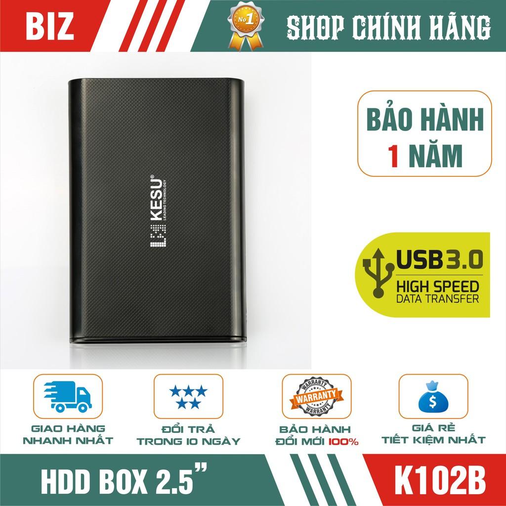 BOX ổ cứng BOX HDD 2.5″ SATA 3 USB 3.0 Gloway – Kesu K102B Giá chỉ 89.000₫
