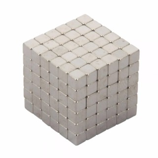 Nam châm Buckyballs 5mm Hình vuông 216 viên – Bạc