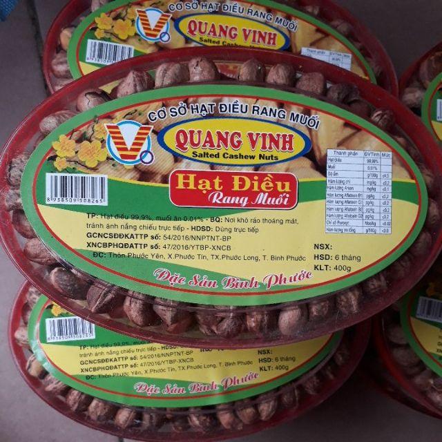 Hạt điều rang muối chuẩn loại 1 Quang Vinh.
