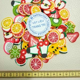 Nail lát trái cây loại lớn 2cm phụ kiệm trang trí charm slime