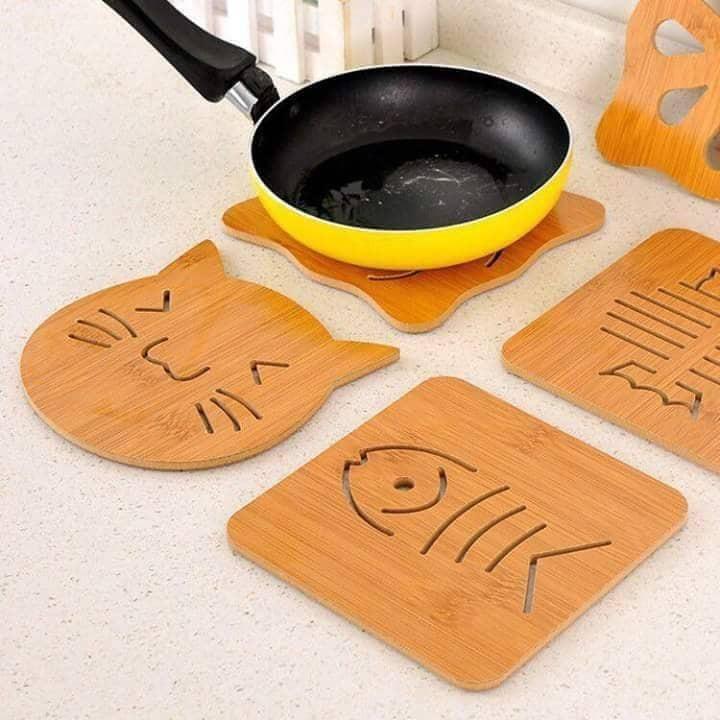 Combo 5 tấm lót đồ nóng bảo vệ mặt bàn siêu