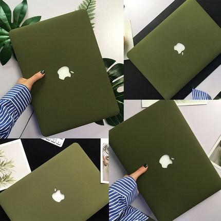 Ốp Macbook Màu Xanh Rêu (Tặng Nút Chống Bụi & Hộp Đựng Tai Nghe)