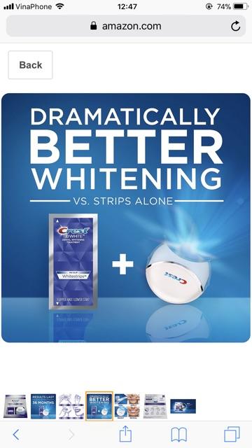 [GOM ORDER] Set 10 Dán trắng răng + Light Teeth Whitening [HÀNG MỚI]