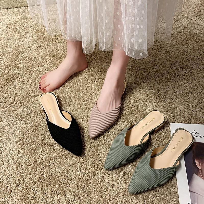 Giày Cao Gót Mũi Nhọn Thời Trang Xuân Hè 2020 Cho Nữ