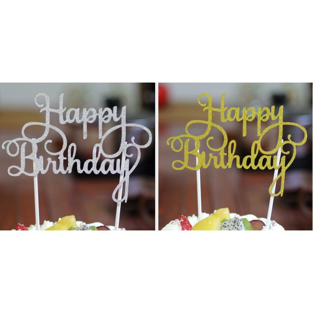 Cắm Happy Birthday giấy