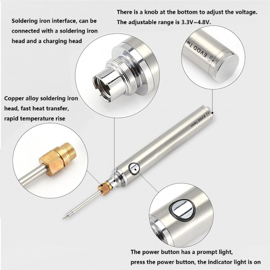 【SYH】Portable Electric Battery Rechargeable Wireless Soldering Iron Welding Pen