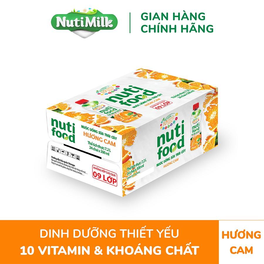 Thùng 24 chai NutiFood Cam Chai 300ml/chai