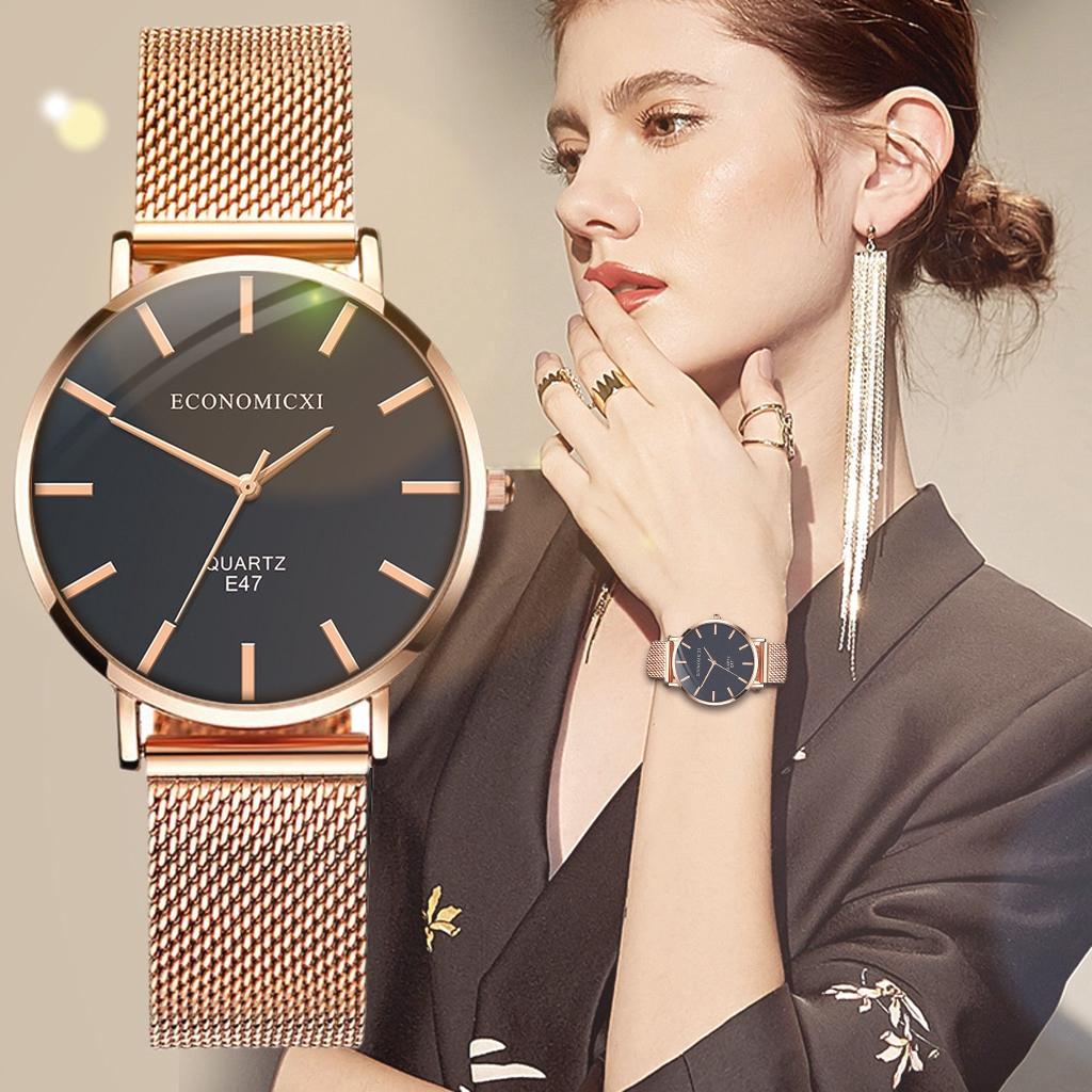 นาฬิกาข้อมือผู้หญิง Rose Gold