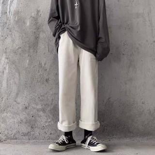 [ORDER-CÓ BIG SIZE] Quần bò jeans trắng ống rộng Ulzzang oversize streetstyle siêu chất ❤️