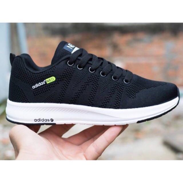 [SALE SỐC-SẴN HÀNG] Giày adidas Neo đen trắng siêu nhẹ size 36->44 NAM NỮ