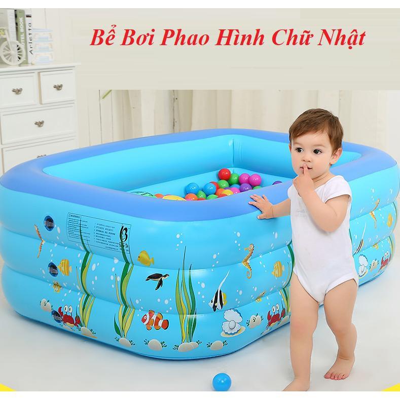 Bể bơi 3 tầng 130 cm , Kèm Bơm Bể _maivanhieuthao_