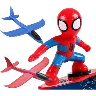 Đồ chơi người nhện trượt ván cho bé tặng 1 máy bay xốp siêu hót hay