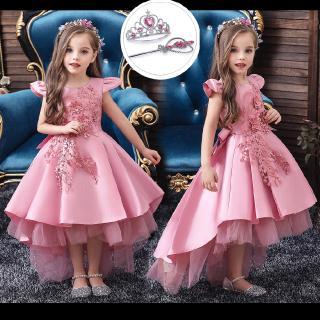 Đầm Công Chúa Đuôi Tôm Xinh Xắn Dành Cho Bé Gái Từ 3-12 Tuổi