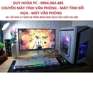 Bộ máy tính để bàn chơi Game LOL, Màn hình 24inch cong 75hz