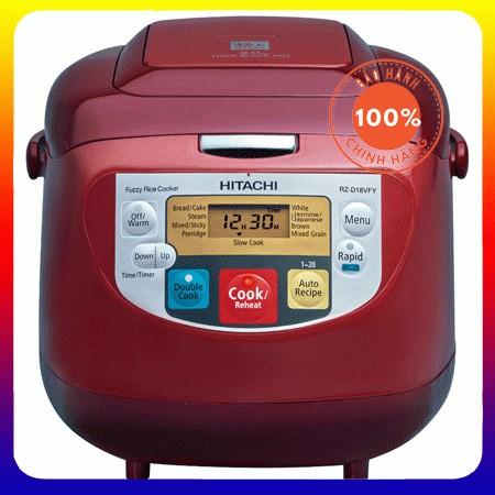 Nồi cơm điện tử Hitachi RZ - D18VFY 820W 1.8L (Đỏ) - Hàng Chính Hãng