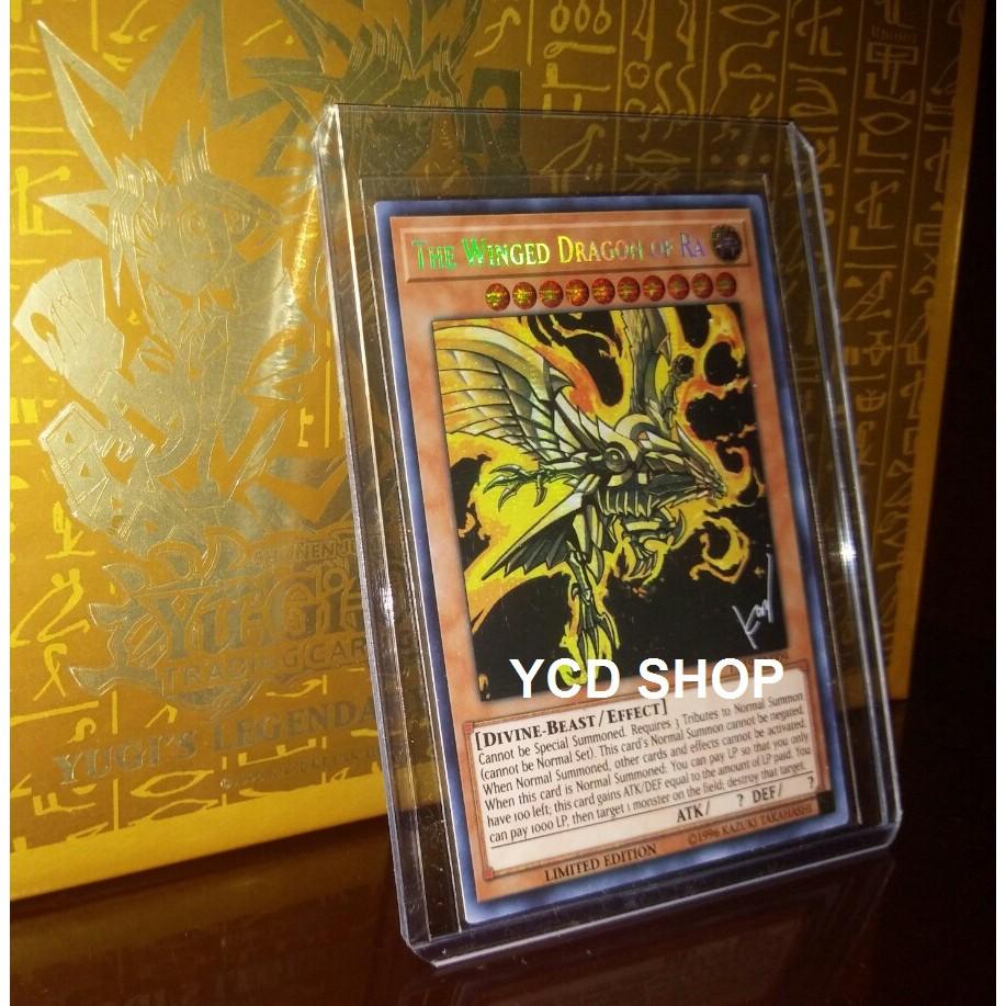 Thẻ bài yugioh chính hãng The Winged Dragon Of RA – Prismatic Secret Rare