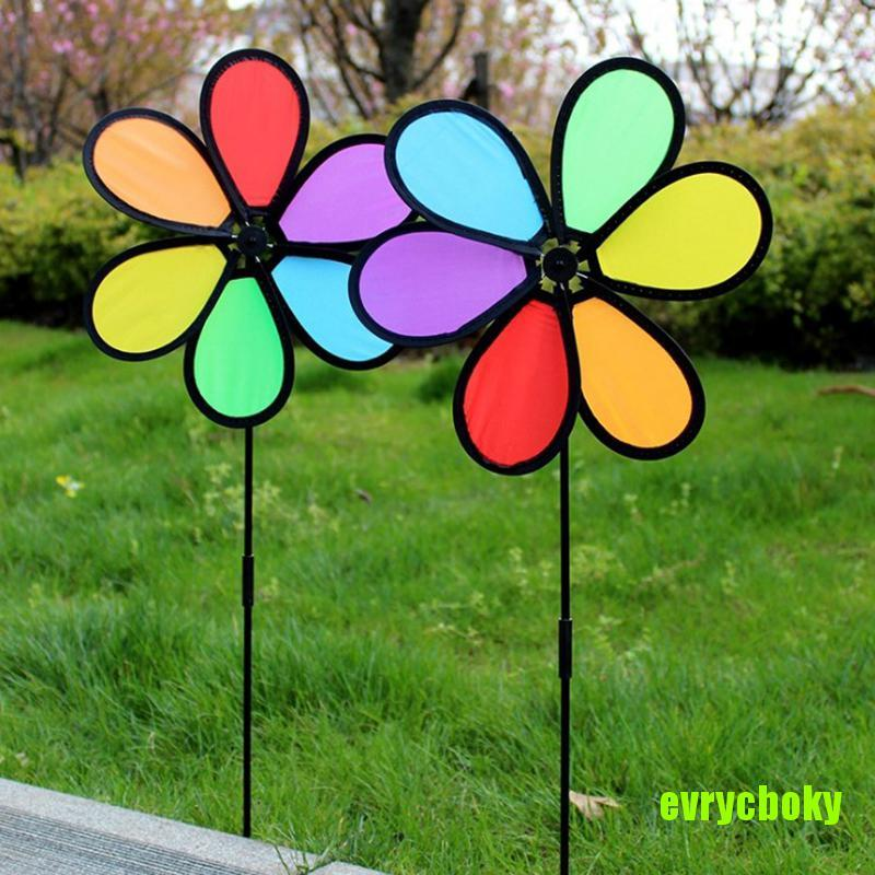 EVRY New Colorful Rainbow Dazy Flower Spinner Wind Windmill Garden Yard Outdoor Decor