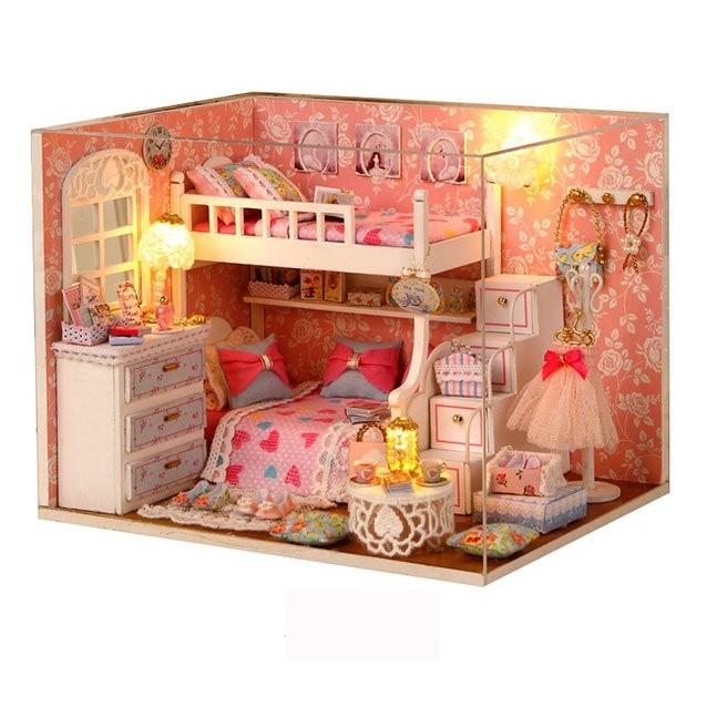 Bộ mô hình nhà gỗ DIY:Căn Phòng Ngủ Cho Bé Gái Dream Angels 3006
