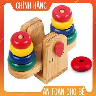 [ Giá Hủy Diệt ] Cân xếp tháp gỗ toán học cho bé- Phát triển tư duy cho bé