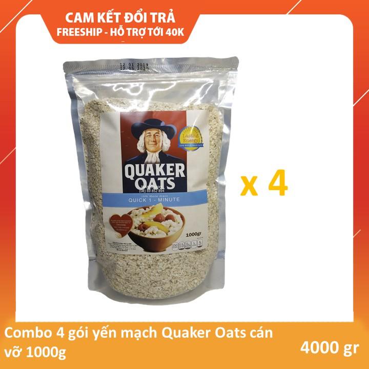 Combo 4 kg Yến mạch Quaker Oats cán vỡ Combo 4 kg Yến mạch Quaker Oats cán vỡ