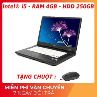 Laptop xách tay Nhật Fujitsu siêu bền,core i5 siêu bền, chơi được game LMHT thumbnail