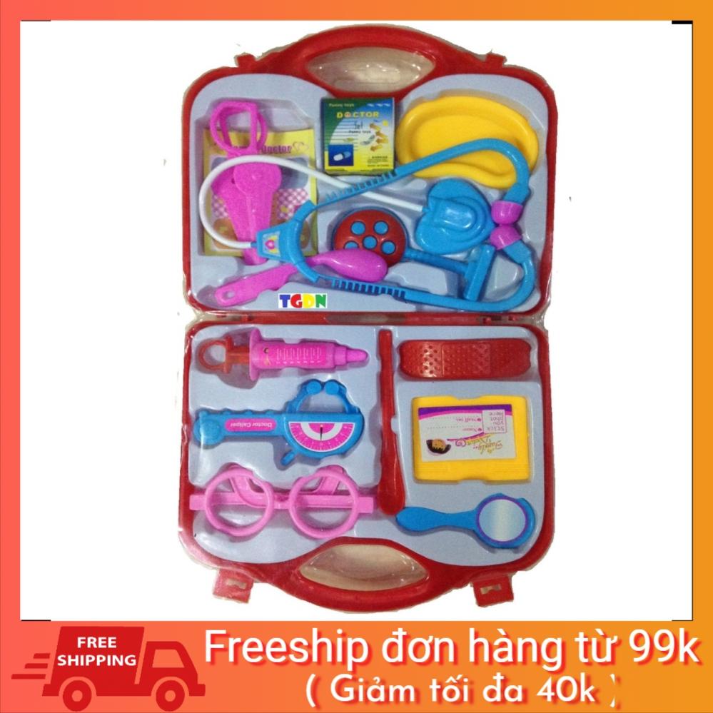 [SALE NGÀY CUỐI] Bộ đồ chơi vali bác sĩ cho bé tập làm bác sỹ (hình thật)