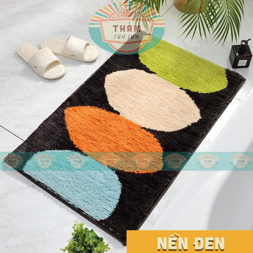 THẢM nhà tắm THẢM chùi chân để ở cửa ra vào nhà tắm hình OVAL nhiều màu sắc - chống trượt, có thể giặt máy TLC 2