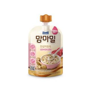 Cháo ăn dặm hữu cơ Maeil Hàn Quốc vị nấm hương và thịt bò 12M - 100g