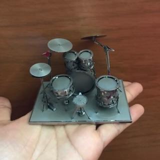 Chưa ráp Mô hình thép Mô hình 3D lắp ráp, mô hình kim loại 3d, trưng bày trang trí, lắp ráp cho bé dàn trống metal model