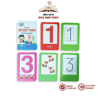 Bộ thẻ flashcard Việt Hà bé học toán dành cho trẻ từ 4-6 tuổi