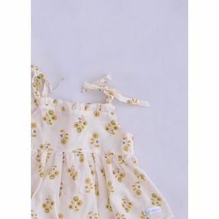 Lamm - Áo hai dây đuôi xòe hoa vàng tròn TOPpassion dáng croptop
