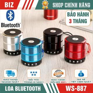 [Mã ELFLASH5 giảm 20K đơn 50K] Loa bluetooth mini WS-887 - VỎ KIM LOẠI âm thanh hay - Bảo hành 3 tháng !!!