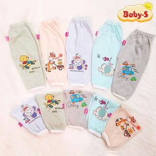 Quần chục dài cotton kẻ cho bé trai và bé gái 2-10kg chất vải đẹp mềm mịn hình thú co giãn thoải mái Baby-S – SQVN002