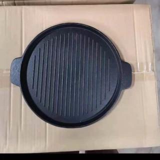 Khay nướng gang đen trống dính 22 cm