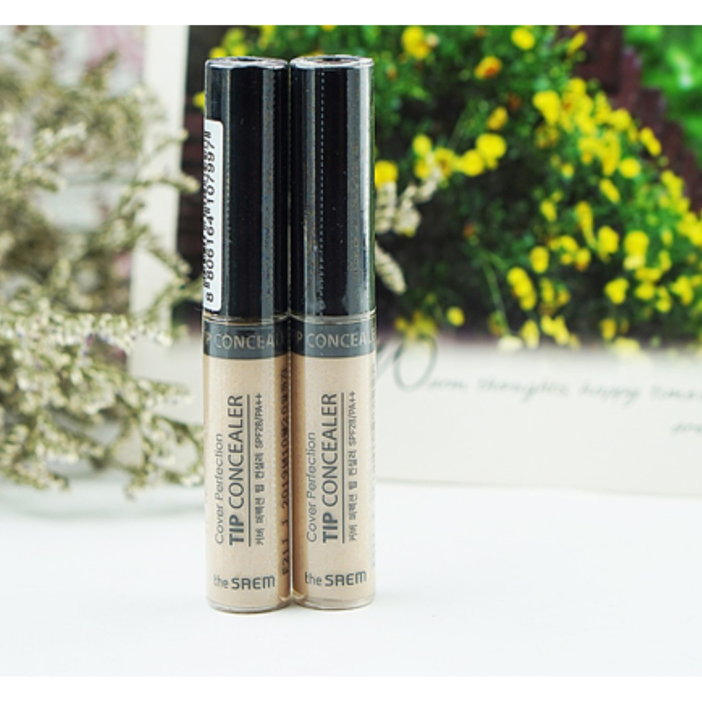 CHE KHUYẾT ĐIỂM COVER PEFECTION TIP CONCEALER THE SAEM SPF 28 PA+++.