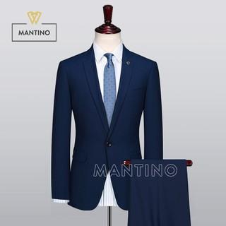 [Nhập mã MAN1015 giảm 15%] Bộ Vest Xanh AV203 – MANTINO