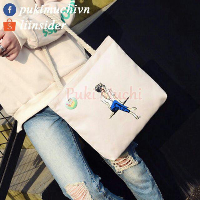 Túi xách 2 dây nhiều hình cute 32*32*5cm