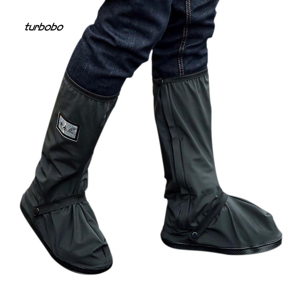 TBB_Outdoor Reusable Anti-slip High Tube Shoe Boot Rain Covers Waterproof Overshoes