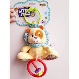 đồ chơi thú bông cầm tay xúc xắc con sư tử