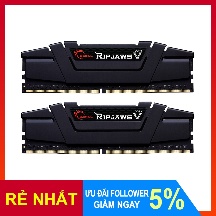 Ram DDR4 16GB (Kit 2x8GB) Ripjaws V bus 3600 F4-3600C18D-16GVK - Bảo hành 36 tháng