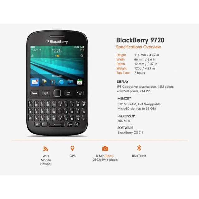 Điện thoại BlackBerry 9720 used máy đẹp tích hợp sẵn FM Radio