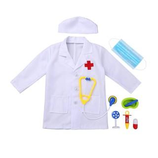 [Hàng may tại xưởng] Bộ Áo mũ bác sĩ cho bé tập làm bác sĩ