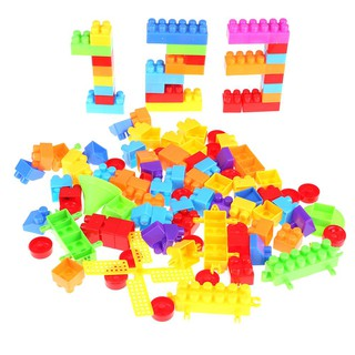 Brightric 110pcs Baby Kid Building Brick Match Puzzle Educational Intellectual Toy