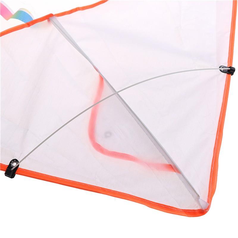 LOVEU* 1PC DIY Painting Kite Foldable Outdoor Beach Kite Children Kids Sport Toys