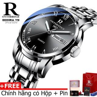 (Đẳng cấp) Đồng hồ nam cao cấp Ontheedge R-13 dây đúc đặc không gỉ kính tráng Sapphiare + full hộp
