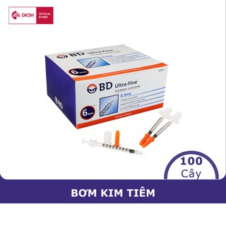 Bơm tiêm insulin BD Ultra-FineTM 6mm, 0.5cc 31G dành cho người điều trị tiểu đường, hộp 100 cây thumbnail