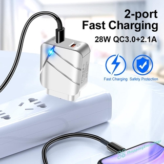 SV 28W USB Charger Quick Charge 3.0 Fast Wall Charger Adapter for Phone Tablet