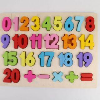 Bảng ghép số từ 0-20 và phép tính